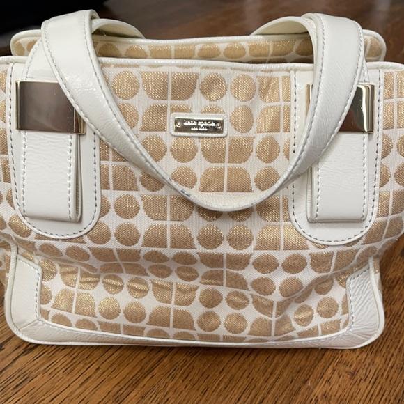 Kate Spade Handbag Gold Off-white